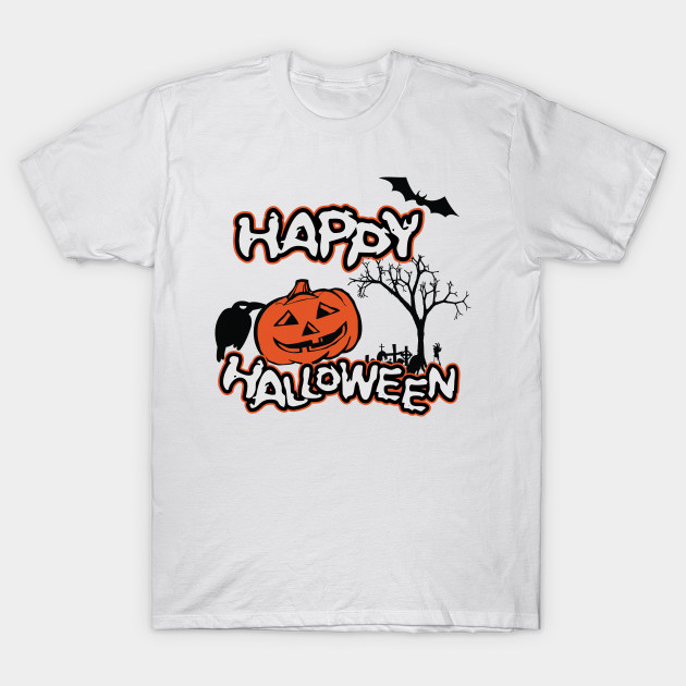 a03f68a7 Happy Halloween - Halloween - T-Shirt | TeePublic
