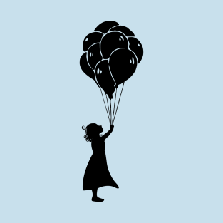 Girl with balloon t-shirts