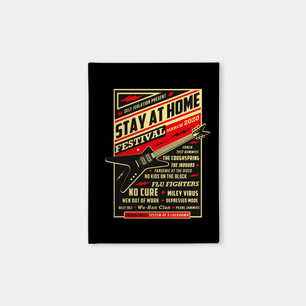 Quarantine Social Distancing Stay Home Festival 2020