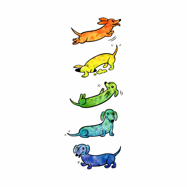 Watercolor Dachshunds