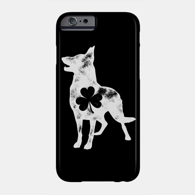 German Shepherd St Patricks Day Men Dog Shamrock Tee Phone Case