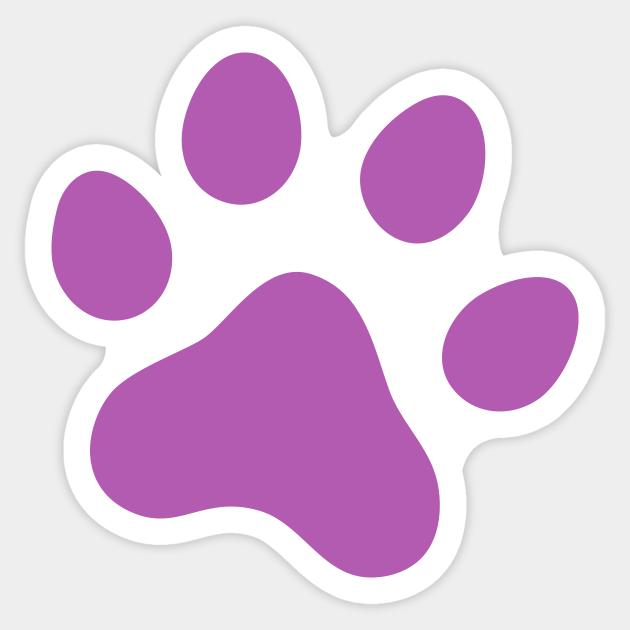 Purple Paw Print Paw Print Sticker Teepublic Paw devon rex dog desktop purple, dog png. purple paw print