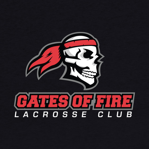 Gates Of Fire Lacrosse Club Red Logo
