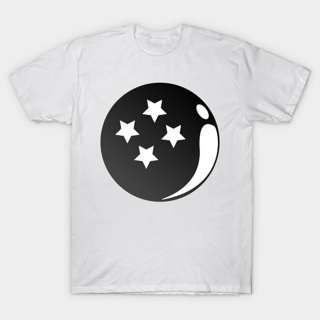 00927e35 Monochrome 4 Star Ball - Dragon Ball - T-Shirt | TeePublic
