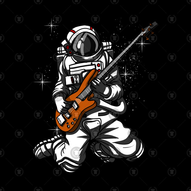 astronaut playing guitar in space - photo #1
