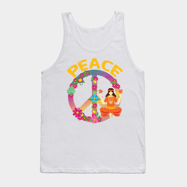 Hippie Yoga Clothes I Peace Sign T Shirt Peace Tank Top Teepublic