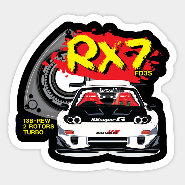 Mazda RX7 Rotary Racing Tee