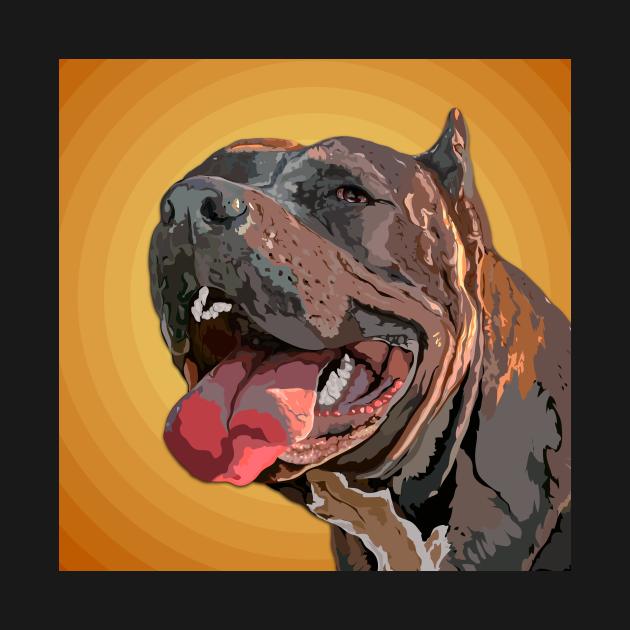 Pit bull smile