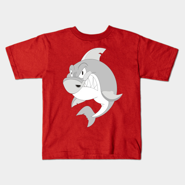 061baef3 angry shark - For Anyone - Kids T-Shirt | TeePublic