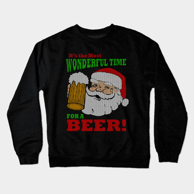 Beer Christmas Sweater.Funny Beer Ugly Christmas Sweater Most Wonderful Time For A Beer