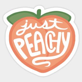 Peach Emoji Stickers | TeePublic