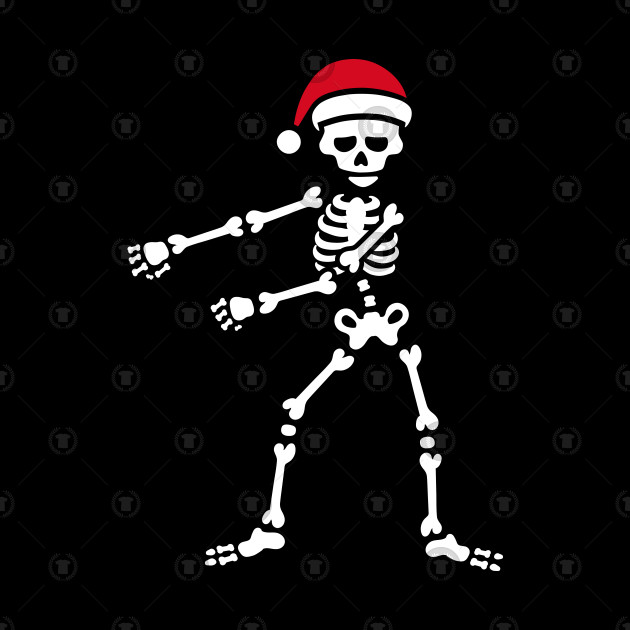 Christmas Skeleton.Floss Dance Flossing Skeleton Santa Claus Christmas
