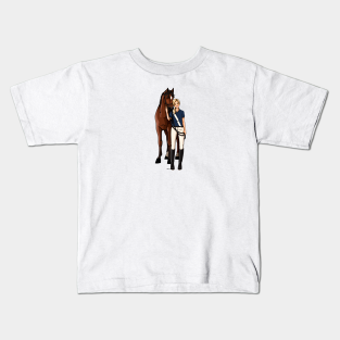 Keep Calm And Trot On Children/'s T Shirt Kid/'s Horse Riding Youth Jokey Tee Gift