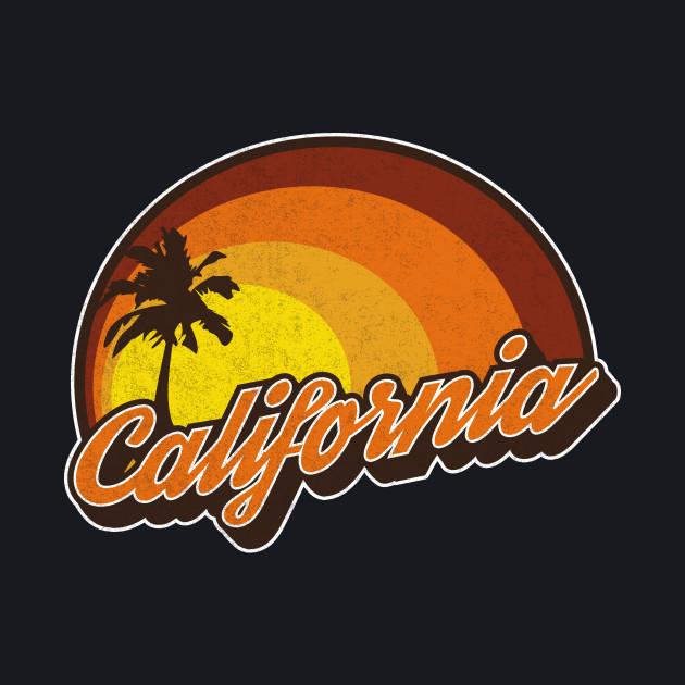 California Sunset Vintage Style