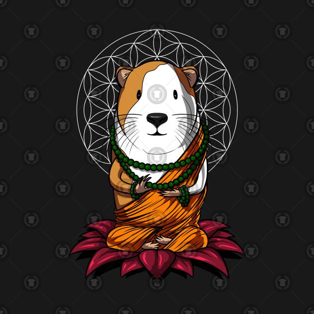 Guinea Pig Buddha Yen Zoga Lotus Meditation Cavy Pet