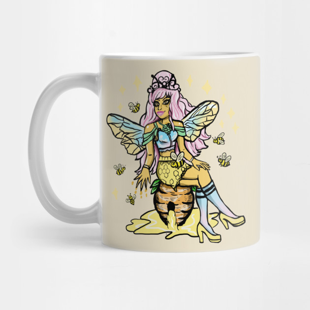 Queen Bee Honey Comb Kawaii Pastel Goth