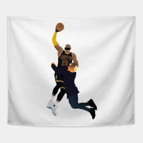b7d009241 LeBron James dunk on Donald Trump Tapestry