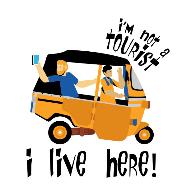 Humorous Tourism Travel Car Buggy Selfie Funny