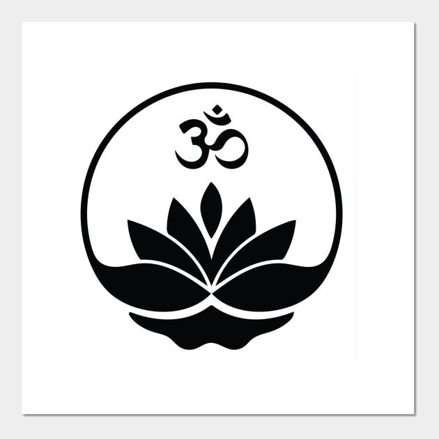 Om Lotus Yoga Symbol Fitness Posters And Art Prints Teepublic