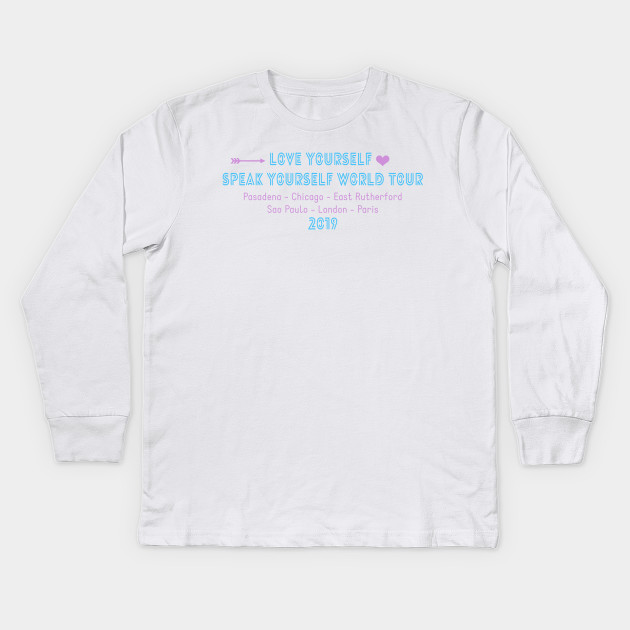 4f9e8aa3 Speak Yourself - Bts - Kids Long Sleeve T-Shirt | TeePublic