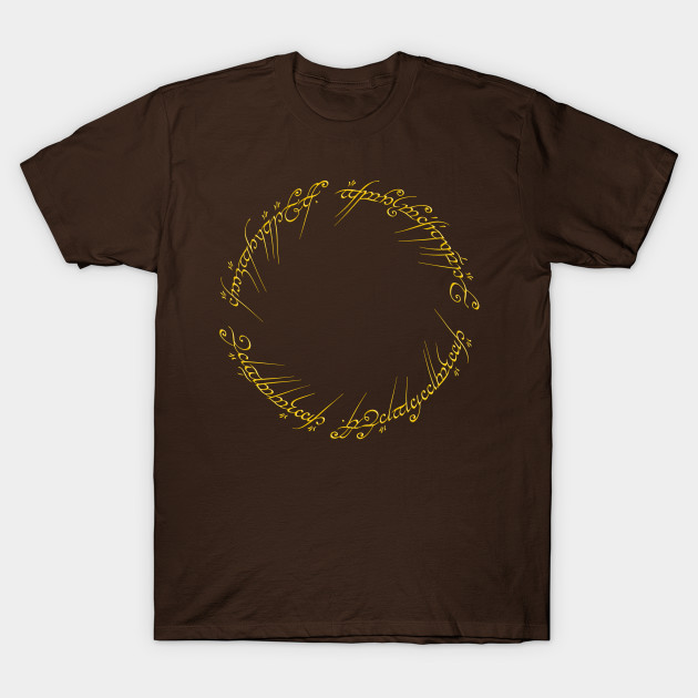 the one ring inscription lord of the rings t shirt teepublic. Black Bedroom Furniture Sets. Home Design Ideas