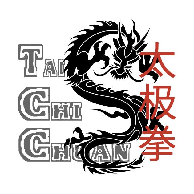 Tai Chi Chuan Chinese Characters With Dragon Tai Chi Chuan Chinese