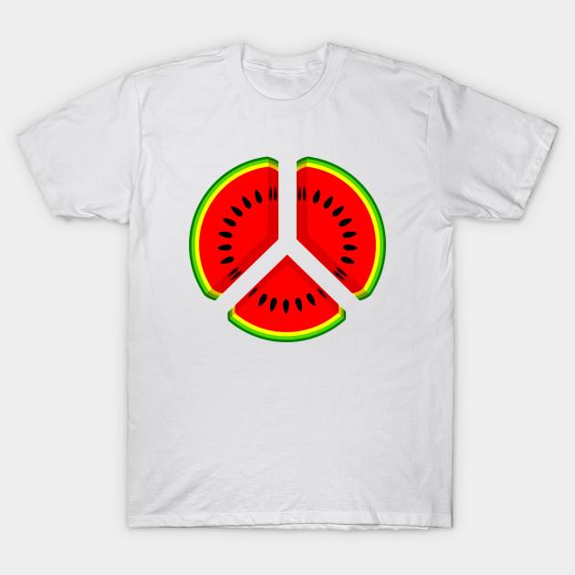 Watermelon Peace Peace Symbol T Shirt Teepublic