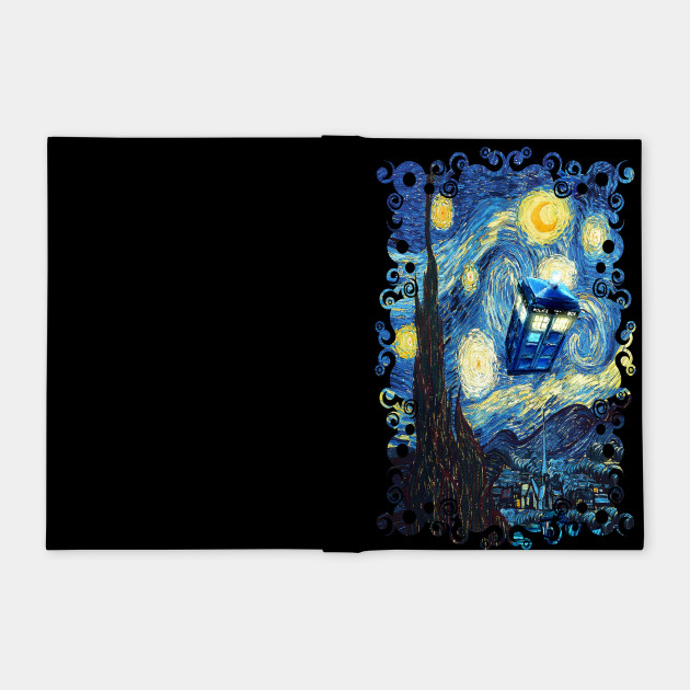 Blue Phone booth starry the night