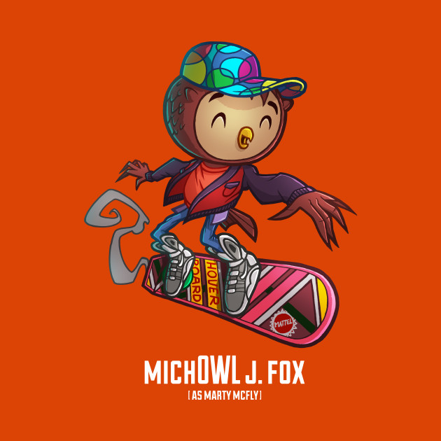 Mich Owl J. Fox As Marty Mcfly Sticker