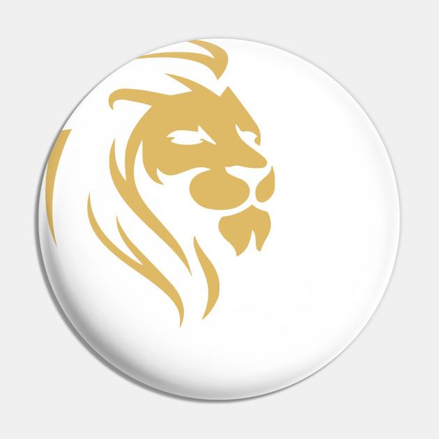 Gold Wilderness Lion Art