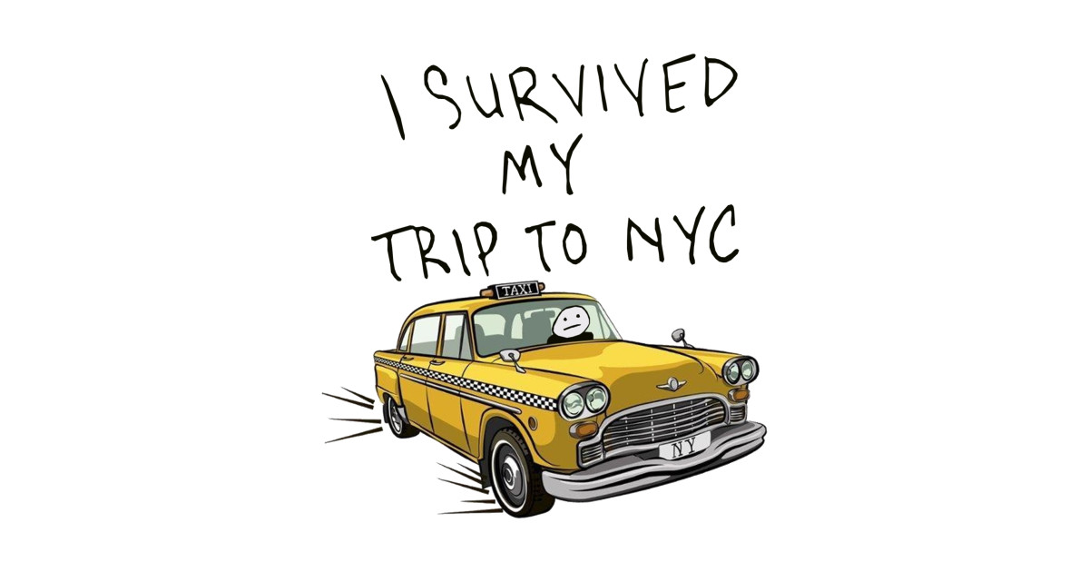 I survived my trip to nyc nyc kids t shirt teepublic for Short weekend trips from nyc