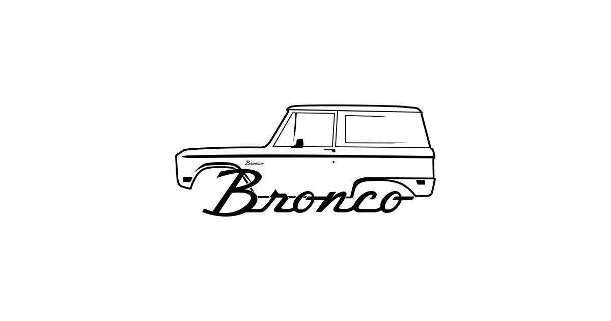 1966-1977 Ford Bronco Side Black With Logo