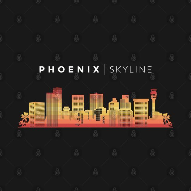 Phoenix City Skyline Art