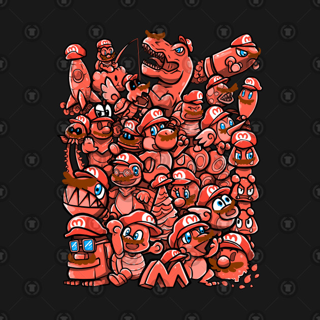 Cappy Party - Red on Black Version