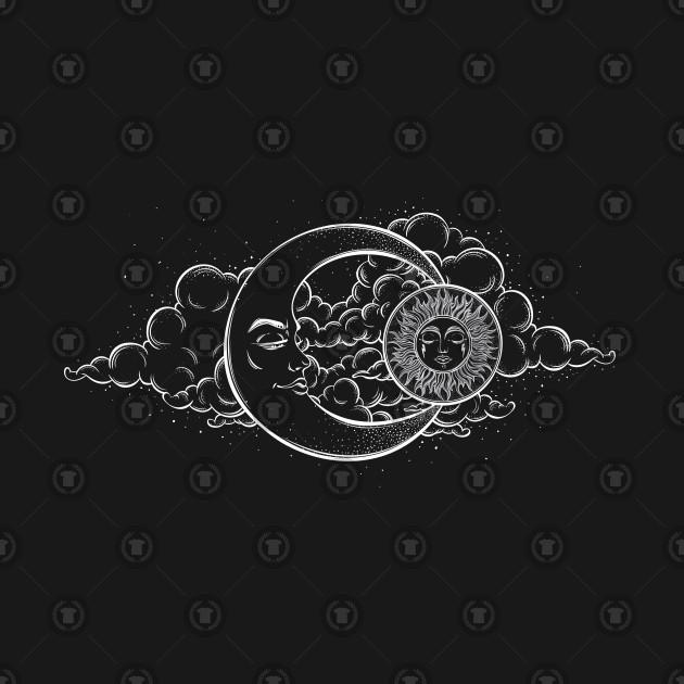 Drawn Tattoo Night Sky Clouds Illustration