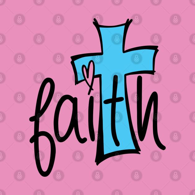 Faith Cross with Love Heart