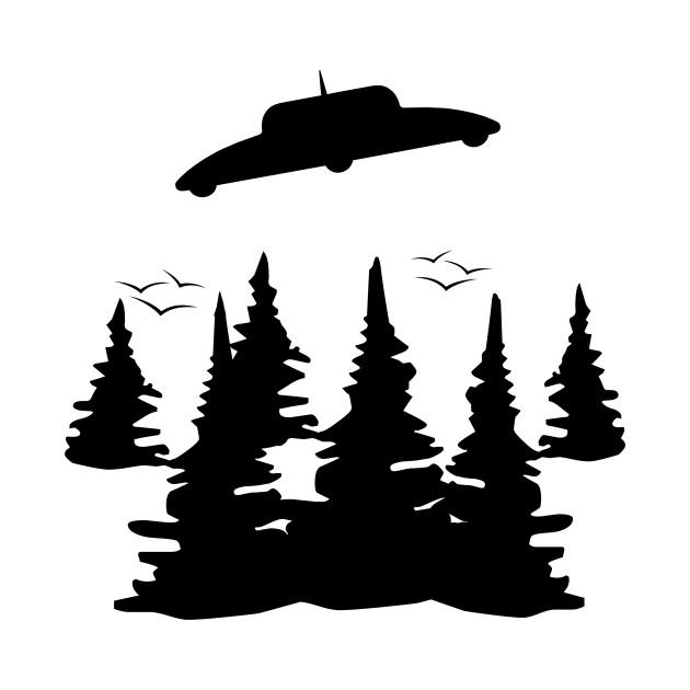 ufo silhouette ufo t shirt teepublic