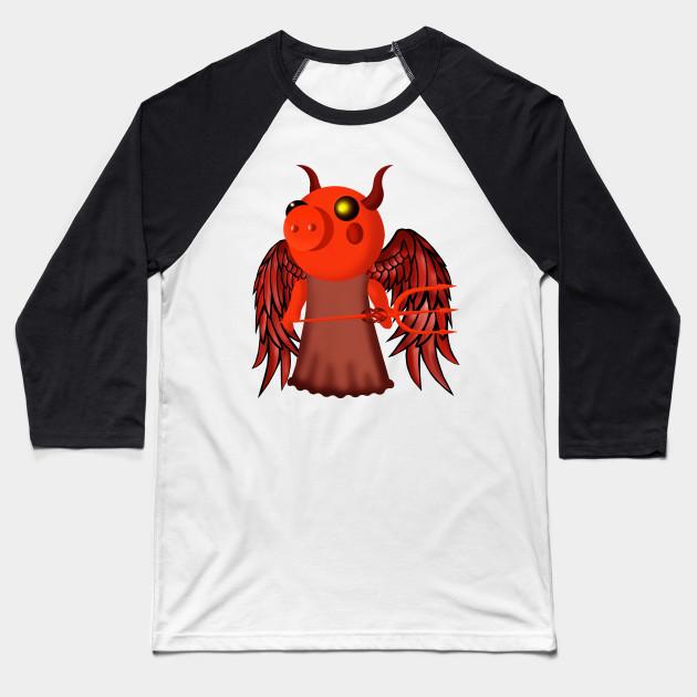 Piggy Roblox Devil Piggy Roblox Baseball T Shirt Teepublic