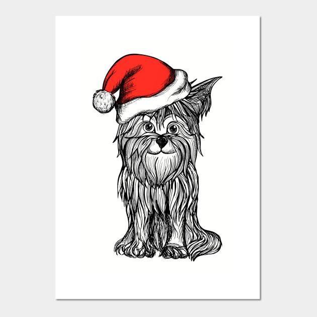 Funny Dog Christmas Santa Claus Hat Papa Noel