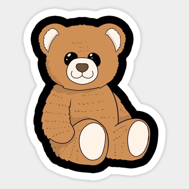 Cute Teddy Bear Stuffed Toy Teddy Sticker Teepublic Uk