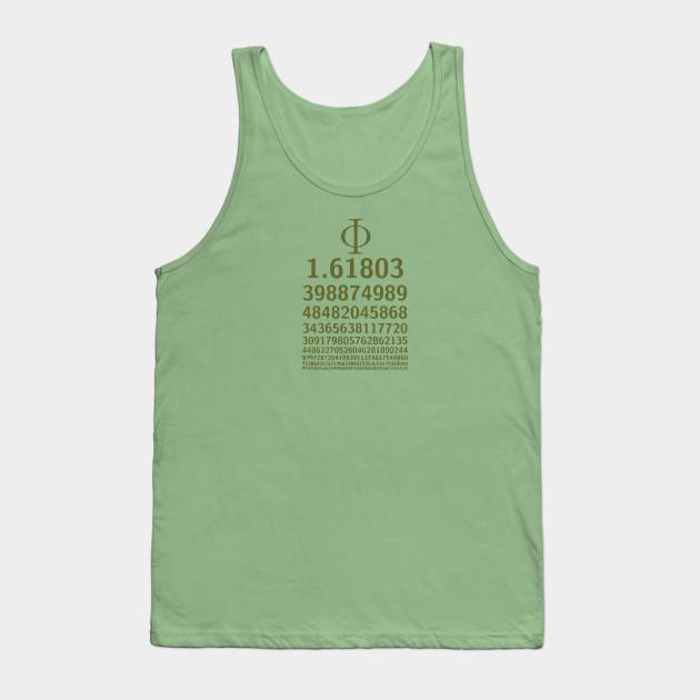 1618 Phi Golden Ratio Symbol Math Lovers Phi Ratio Tank Top