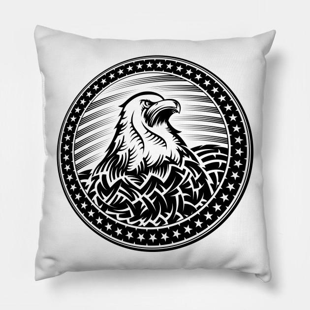 American Bald Eagle Usa Natioal Symbol Independence Day Emblem Head