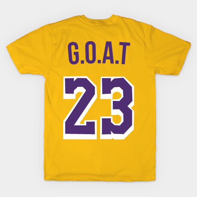 innovative design 4ba4a 79705 Lebron James 'GOAT' Nickname Jersey - Los Angeles Lakers