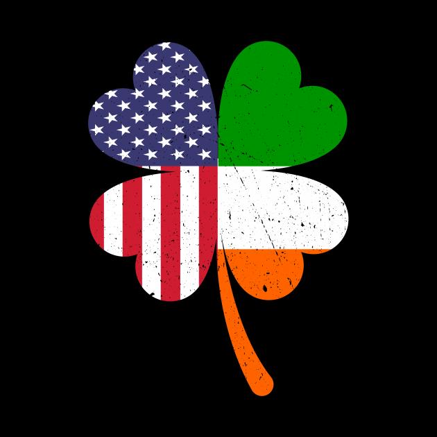 Irish American Flag Ireland Shamrock St Patricks Day