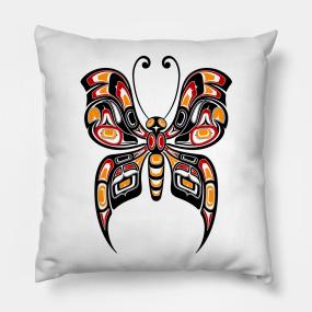 1b6e796cc Haida Art Pillows | TeePublic