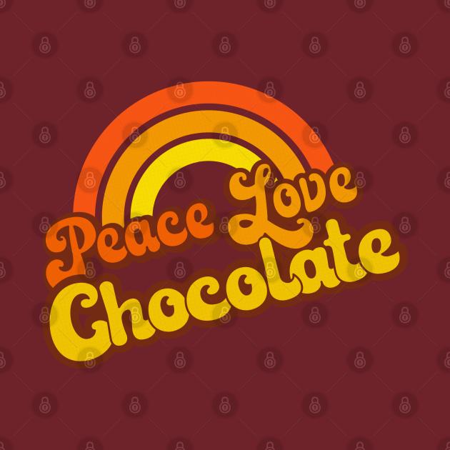 Retro Rainbow - Peace, Love Chocolate