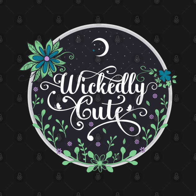 Wickedly Cute Crescent dark night flowers gift