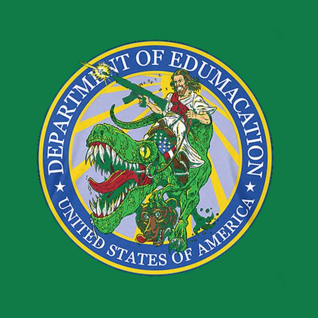Department Of Edumacation Jesus Dinosaur