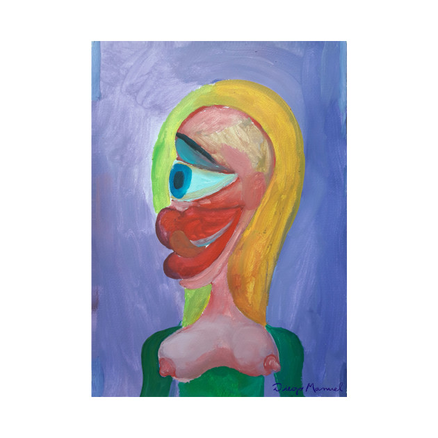 blonde cubist girl 4