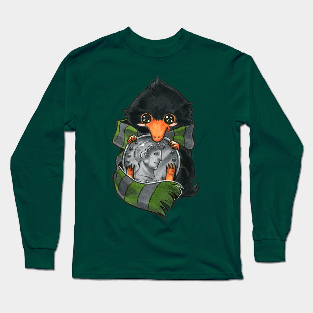 027374016 Slytherin Baby Niffler - Niffler - Long Sleeve T-Shirt   TeePublic